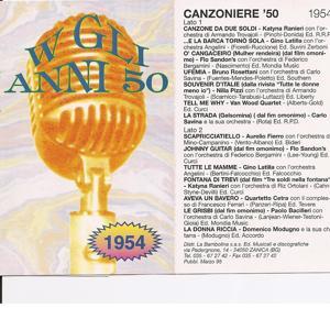 Canzoniere ' 54 - Canzoni Originali del 1954