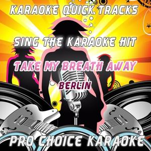Karaoke Quick Tracks : Take My Breath Away (Karaoke Version) (Originally Performed By Berlin)