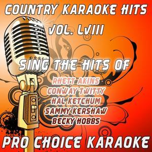 Country Karaoke Hits, Vol. 58 (The Greatest Country Karaoke Hits)