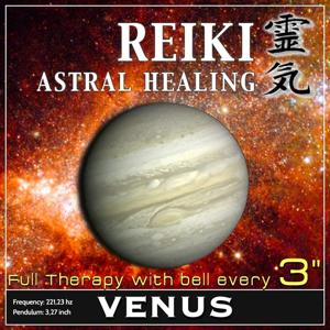Reiki Astral Healing - Venus Frequency (1h Full Binaural Healing Therapy With Bell Every 3 Minutes)