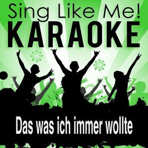 Das was ich immer wollte (Karaoke version)