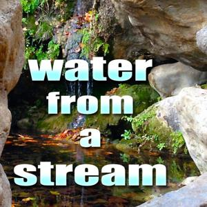 Meditate and Relax with Water From A Stream