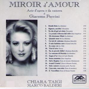 Giacomo Puccini : Miroir d'amour (Arie d'opera e da camera)